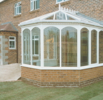 Timber victorian conservatory